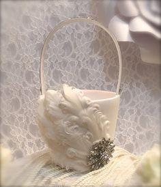 flower girl basket wedding basket wedding от iweddingworld на Etsy