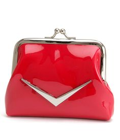 Red Shiny Kiss Lock Coin Purse