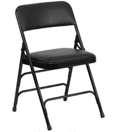 Flash Furniture Hercules Series Curved Triple Braced and Quad Hinged Vinyl Upholstemetal Folding Chair Best Folding Chairs, Plastic Folding Chairs, Folding Tables, Seat Pads, Chair Pads, Chair Cushions, Card Table And Chairs, Series Black