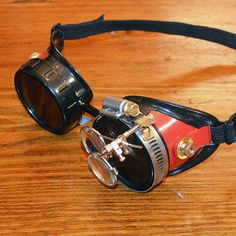Steampunk Goggles Hot Rod Gothic Atomic Apocalypse Mad Scientist Space Captain Motorcycle Cyber Sunglasses $25