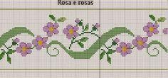 Flowers border cross stitch