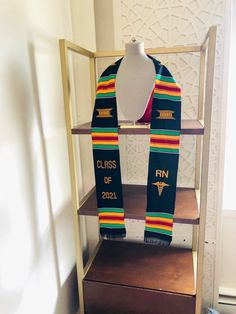 Custom Nurse Graduation Stoles Class of 2021 Kente Sash, RN Nursing Grad stole #graduation #blackgirlmagic #personalizedstoles #sororitystole #fraternitystoles Graduation Stole, Nursing Graduation, Graduation Gifts, Graduation Pictures, Social Work, Sash, Special Day, Ghana, Weaving
