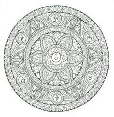 Zentangle Mandala to color, great detail...