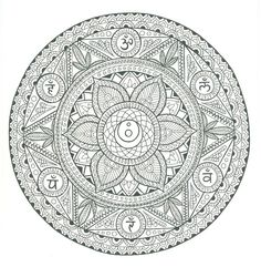 Zentangle Mandala to color, great detail...
