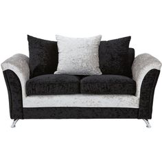 Zulu 2-Seater Fabric Sofa ($430) ❤ liked on Polyvore featuring home, furniture, sofas, fabric furniture, upholstery furniture, upholstered furniture, two person couch and 2 seater fabric sofa