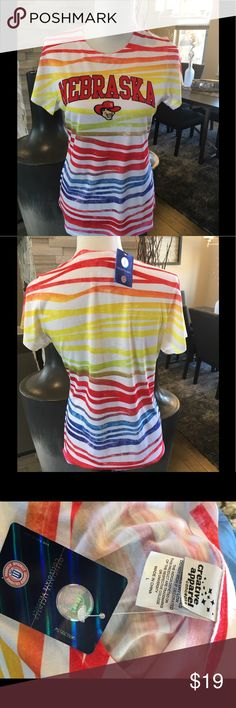 Nebraska tshirt NWT New rainbow tshirt Nebrask fans will love it Tops Tees - Short Sleeve