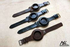 Leather straps/wristlets for pocket watches www.mkleathers.pl