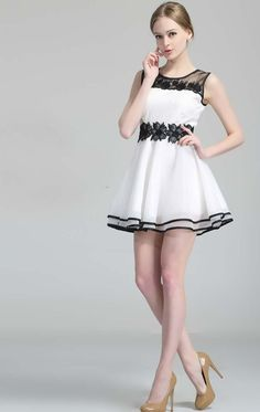 34d2c7df05 Shop White Sleeveless Embroidered Ruffle Organza Dress online ...