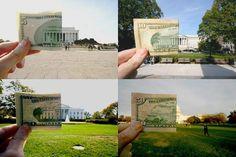 $5, $10, $20 and $50 bills