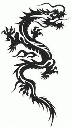 Kostenlose Tribal Dragon Tattoo Designs in mehreren Galerien. Bild - Kostenlose Tribal Dragon Tattoo Designs in mehreren Galerien. Dragon Tattoo Stencil, Black Dragon Tattoo, Tribal Dragon Tattoos, Dragon Tattoo For Women, Chinese Dragon Tattoos, Dragon Tattoo Designs, Tattoo Stencils, Stencils Tatuagem, Tattoo Diy