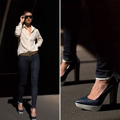 I love her ankles in this one! Nice touches of pants meeting the shoe buckle! Micah Gianneli