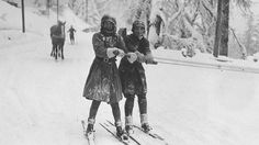 Before the Snowboard: Amazing Vintage Skiing Photos   The Weather Channel