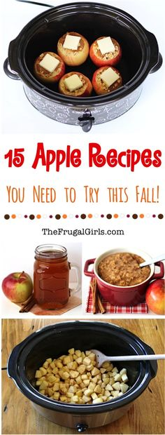 15 Apple Recipes you need to try this Fall! ~ from TheFrugalGirls.com ~ Enjoy the fresh and cozy flavors of Fall with these Easy Drinks, Healthy Snacks, Apple Desserts, and more! #recipe #thefrugalgirls