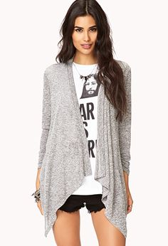 Standout Draped Cardigan | FOREVER 21 - 2000075102