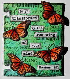 Be transformed by the renewing of your mind. Romans 12:2 - Paperlicious Designs: February Faith Art Artist Trading Cards