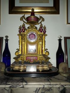 Mantle Clock, Home Decor, Decoration Home, Room Decor, Home Interior Design, Home Decoration, Interior Design