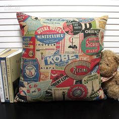 Novelty Vintage Famous Hotels Pattern Hand Made Cushion Cover Home Bar Cafe Hotel Decorative Throw Pillow Case from Allforjoy,$13.18 | DHgate.com