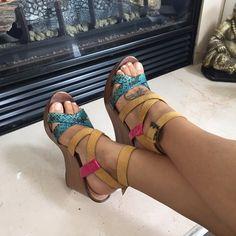 Colorful Aldo Wedges NWOT. Never worn colorblock wedges. ALDO Shoes Wedges
