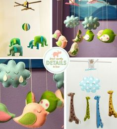 Get some animals for a mobile or at Christmas buy stuffed ornaments