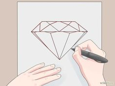 How to Draw a Diamond. The key to drawing a realistic diamond is making it look reflective and three-dimensional. All you need to draw a beautiful. Drawing Tutorials For Beginners, Art Tutorials, Painting Tutorials, Coloring Tips, Colouring, Geometric Shapes Design, Hand Lettering Fonts, Acrylic Pouring Art, Diamond Quilt