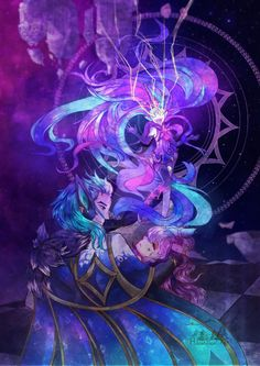 """Star Guardian"" by Hanamori Yuki Lol League Of Legends, Rakan League Of Legends, League Of Legends Characters, Fictional Characters, Rakan Lol, Lol Champions, Image Painting, A Beast, Silhouette Art"