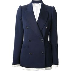 ALEXANDER MCQUEEN double breasted blazer (€2.255) found on Polyvore