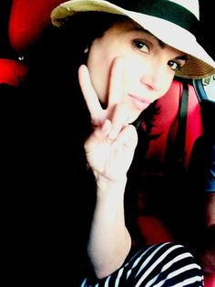 Awesome Lana wearing an awesome hat making the awesome Peace sign #Vancouver BC 2014