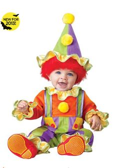 UHC Baby Boys Cuddly Clown Infant Toddler Fancy Dress Child Halloween Costume ** Click image for more details-affiliate link. Toddler Boy Costumes, Baby Costumes, Cool Costumes, Clown Halloween Costumes, Halloween Kostüm, Spirit Halloween, Circus Costume, Toddler Fancy Dress, Toddler Jumpsuit