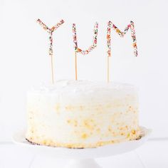 Make a message cake topper for Mother's Day, birthdays, and other parties using paper straws.