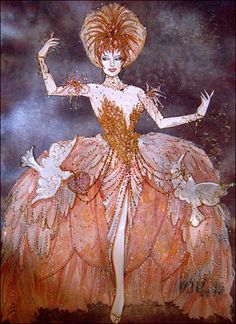 Gregg Barnes' Costume Sketches for Kennedy Center Follies. A MASTER! Nothing wrong with studying bad way up.