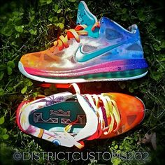 nike lebron 9 low horizon customs 06 Nike LeBron 9 Low Horizon By District Customs. Because why not.
