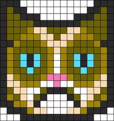 Grumpy Cat bead pattern