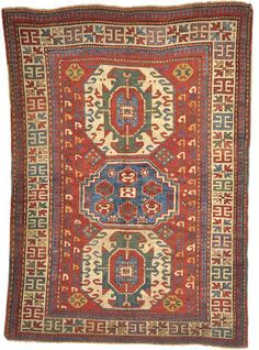 A Kazak rug -  Caucasus - late 19th century - size approximately 5ft. 2in. x 7ft. 2in.