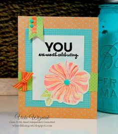 Wizard's Hangout: Watercolor Flower Birthday Card