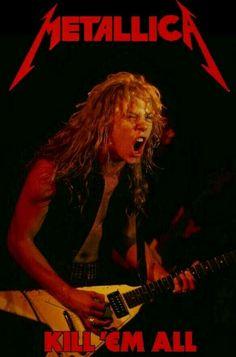 Metallica - Kill 'em all Ron Mcgovney, Cliff Burton, Robert Trujillo, Bruce Dickinson, Metallica Gif, James Metallica, Metallica Tattoo, Metallica Albums, Power Metal