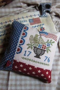 From Threadwork Primer -=- Cross Stitch Pillow, Beautiful !!