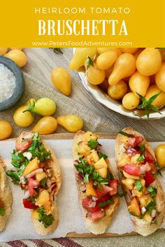 The secret to making a delicious Summer Bruschetta is to use garden fresh ripe heirloom tomatoes. It's so easy to make, jam packed with flavour from garlic, onions basil and balsamic vinegar, This is the best bruschetta I've eaten! Summertime Bruschetta with Tomato & Basil