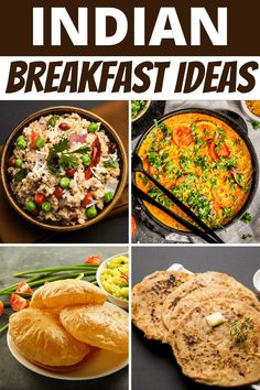 These Indian breakfast ideas are perfect for vegan and vegetarian diets! From mild to spicy, these recipes make meatless mornings so much more interesting. Breakfast Options, Breakfast Recipes, Aloo Puri, Uttapam Recipe, Plant Based Breakfast, Indian Food Recipes, Ethnic Recipes, Quick Easy Dinner, Indian Breakfast