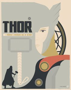 """Thor"" by Matt Needle Marvel's Avengers: Age of Ultron Art Showcase now open at Hero Complex Gallery"