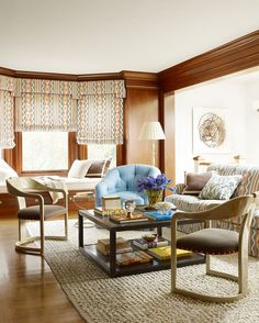 Have you looked at the March issue of Elle Decor yet? The cover story is a lovely San Francisco Shingle Style house of a young family decorated by interior designer Palmer Weiss. Weiss managed to c… Tan Living Room, Relaxation Room, Decor, Interior Design, Elle Decor, Home, Living Room With Fireplace, Home Decor, Casual Living Rooms