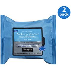 Neutrogena Refill Pack Make-Up Remover Cleansing Towelettes 25 ct, Value Bundle (Pack of 2)