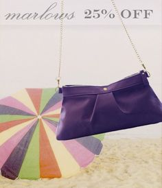 Cute Marlow Cross-body convertible bag is on a 25% Summer Sale.  This bag can be worn over the shoulder, cross-the-body, or as a clutch. Snag one while we have them in stock!