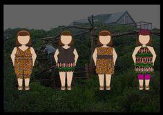 Using inspiration of tribal print theme in girls playwear