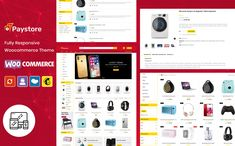 PayStore - Multipurpose WooCommerce Theme #102353 Website Design Layout, Website Design Inspiration, Web Layout, Layout Design, Design Ideas, Learn Web Design, Creative Web Design, Best Website Templates, Photoshop