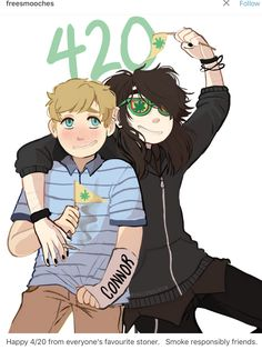 Aww my tree bros are celebrating St. Dear Evan Hansen Fanart, Dear Evan Hansen Musical, Evan And Connor, Dear Even Hansen, Connor Murphy, Hansen Is, Be More Chill, Out Of Touch, Drarry