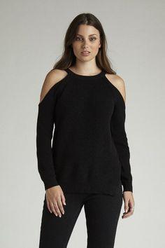 Cold Shoulder Knit - Black – I.D.S