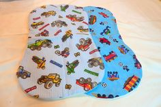Baby Burp Cloths  Set of 2  Trains by JulieButlerCreations on Etsy, $10.00