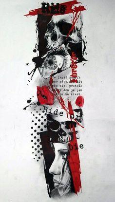 Tatuajes Trash Polka ㄨ ㄨㄨ ㄨㄨ ㄨ Nueva Tecnica ㄨ ㄨ ➋☢➊➒- T. - Tatuajes Trash Polka ㄨ ㄨㄨ ㄨㄨ ㄨ Nueva Tecnica ㄨ ㄨ ➋☢➊➒- Tatuajes Trash Polka - Red Tattoos, Back Tattoos, Cover Up Tattoos, Tattoo Drawings, Tattoos For Guys, Sleeve Tattoos, Trash Polka Sleeve, Arte Trash Polka, Trash Polka Tattoos
