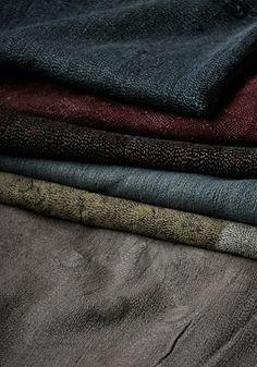 123bf49c3ecd Shawls delicately quilted with slender silk thread. via Jurgen Lehl Textile  Texture, Textile Art