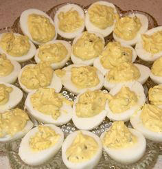 Southern Deviled Eggs are creamy with just a touch of sweetness from pickle relish and a sprinkle of paprika--very simple and tasty!